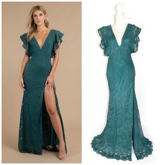 4c69288ad0 Tobi Dresses | Feel For You Emerald Lace Maxi Dress L 810 | Poshmark